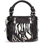 Guess Kabelka Presley Zebra a Calf Hair Zip Satchel