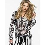 Guess Halenka Silver Leopard Gemma Top, velikost S
