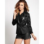 Guess Sako Faux-Leather Contrast Suiting Blazer