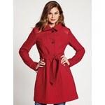 Guess Kabát Natalie Long-Sleeve Jacket červený