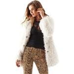 Guess Kabát Long-Sleeve Shag Faux-Fur Coat, velikost XS