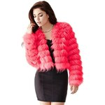 Guess Kabátek Long-Sleeve Faux-Fur Jacket