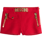 Moschino Embellished Cotton Piqué Shorts