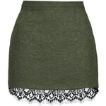 Topshop Textured Lace Hem Pelmet Skirt