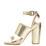 Topshop ROSCHA Metallic High Sandals