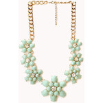 Forever 21 Fancy Floral Bib Necklace