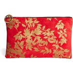 J&P Fran Large Zip Top Leather Pouch
