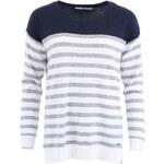 Modro-bílý svetr s šedými pruhy ONLY Tiff