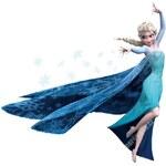 Decor4walls Samolepka na zeď - Královna Elsa - Ledové království 62x60cm