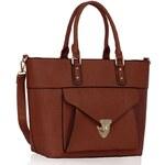 Dámská kabelka LS Fashion (LS00181A) - hnědá