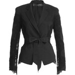 Donna Karan New York Linen-Blend Blazer with Lace Insets