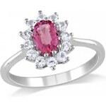 Stříbrný prsten se Zirkony Ag925 Œil de cristal