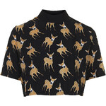 Topshop **Fawn Print Crop Top by Oh My Love