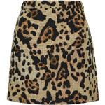 Topshop TALL Jacquard Animal Print Pelmet Skirt