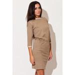 Svetlohnedé šaty K105 L