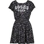 Tally Weijl Black Floral Print Skater Dress