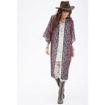 FOREVER21 Maxi-Kimono mit Paisleyprint