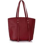 L&S Fashion (Anglie) Kabelka LS00335 červená (burgundy)