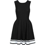 Tally Weijl Black Skater Dress with Knitted Upper