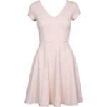 Tally Weijl Pink Floral Embossed Skater Dress