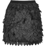 Topshop **Textured Feather Mini Skirt by Rare