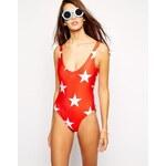 Wildfox Starshine Swimsuit - Red