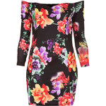 Topshop **Floral Off The Shoulder Bodycon Dress by Rare