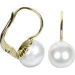 Brilio Zlaté náušnice s perlou 235 001 00071