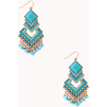 Forever 21 Chic Art Deco Drop Earring