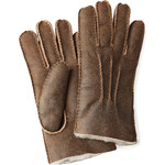 UGG Australia Leather Gloves with Shearling Lining