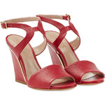 Chloé Beky Leather Wedges