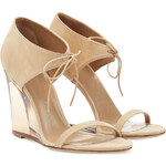 Burberry Shoes & Accessories Leather Wedges with Transparent Heel