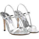 Diane von Furstenberg Ulla Metallic Leather Sandals