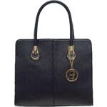 Glamorous by Glam Dámská kožená kabelka se zlatými doplňky černá
