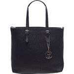Glamorous by Glam Dámská kožená kabelka se zapínáním - černá