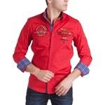Pánská košile BINDER DE LUXE s výšivkami - Red