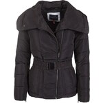 Dámská zimní bunda VOLCANO Kutty s páskem - Black