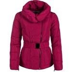 Dámská zimní bunda VOLCANO Kutty s páskem - Fuchsia