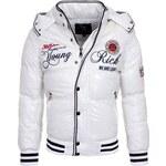Pánská zimní bunda YOUNG & RICH / White 4196-W