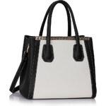 L&S Fashion (Anglie) Kabelka LS0030c černobílá