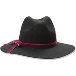 Tally Weijl Black Fedora Hat with Pink Detailing