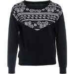 Terranova Sweatshirt with patterned insert