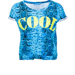 Terranova All-over snake print t-shirt with writing