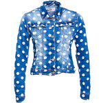 Terranova Polka-dot denim jacket