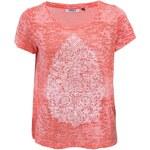 Korálové tričko s potiskem ONLY Klinge