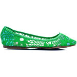 WANNA Krajkové zelené baleríny ZR7104VE Velikost: 40