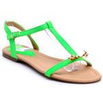 Zelené nízké sandálky X392GR