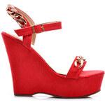 VICES Červené sandálky na platformě A746R /S1-28P
