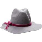 Tally Weijl Grey Fedoara Hat with Pink Detailing