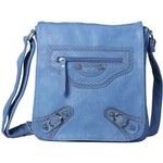 Dámská kabelka světle modrá, materiál koženka